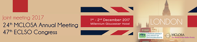 24th MCLOSA Annual Meeting - 47th ECLSO Congress - 1st - 2nd December 2017 - Millenium Gloucester Hotel - London